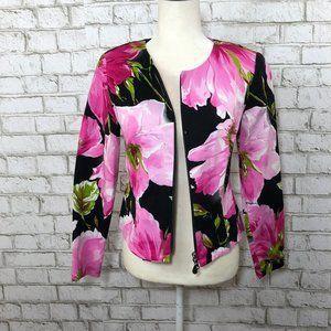 Joseph Ribkoff Trends Zip Floral Jacket Blazer 6